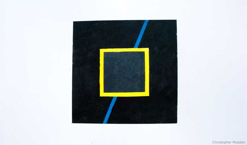 Contemporary minimalist art geometric abstract painting