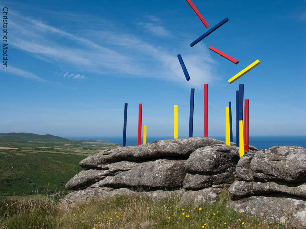 art in the environment - abstract sculpture near St Ives, Cornwall