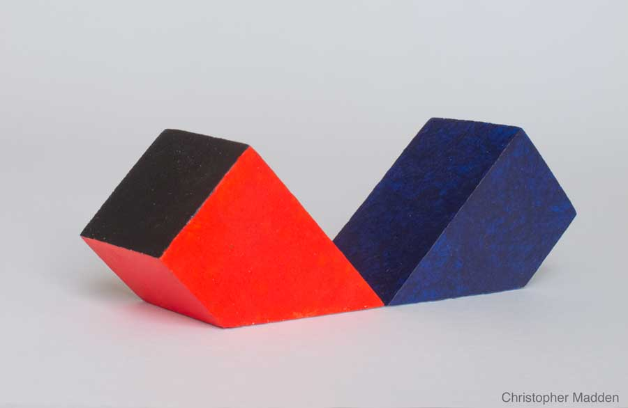 contemporary abstract sculpture - geometric forms from mundane materials