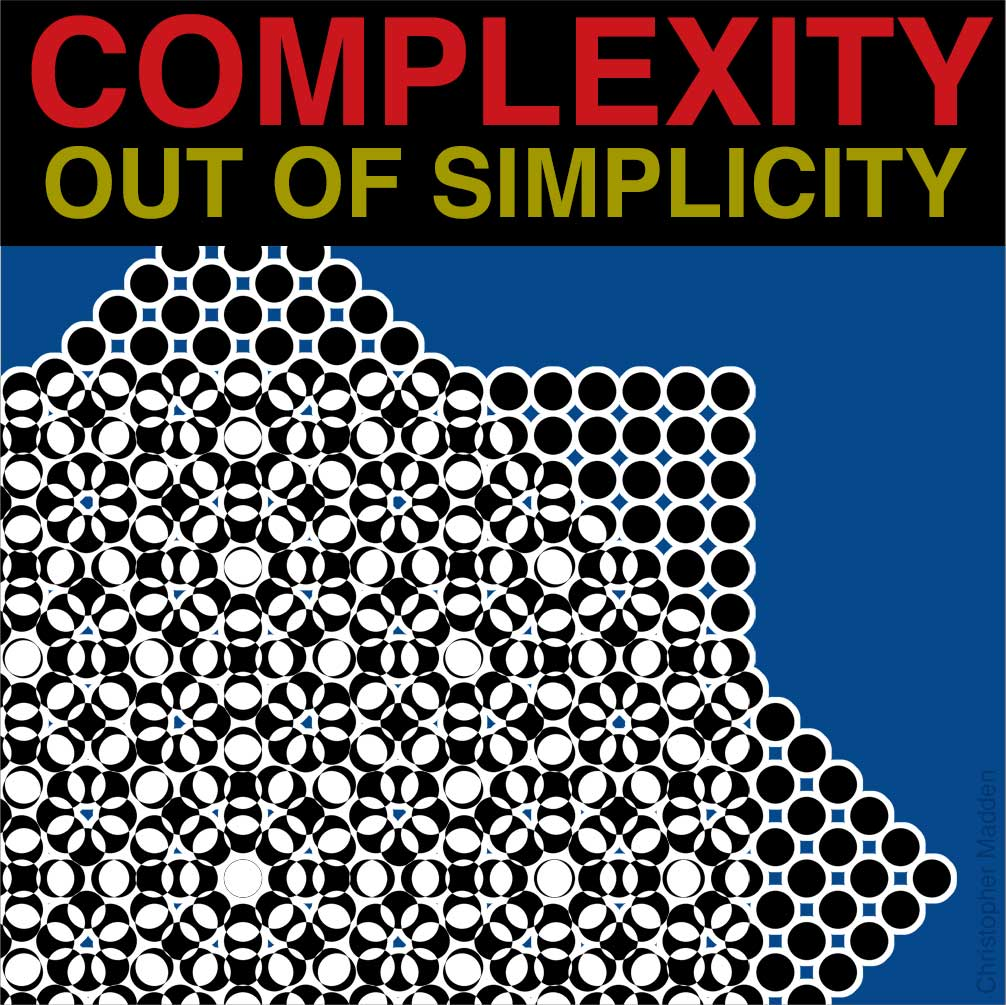contemporary art meets science - the creation of complexity from simplicity in generative art