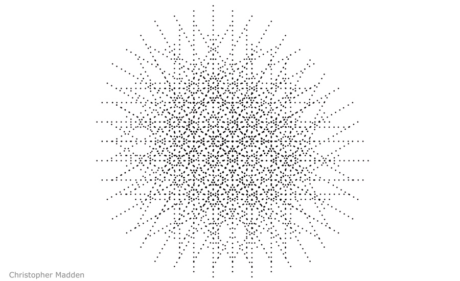 contemporary art and science - intricate pattern perception from dots