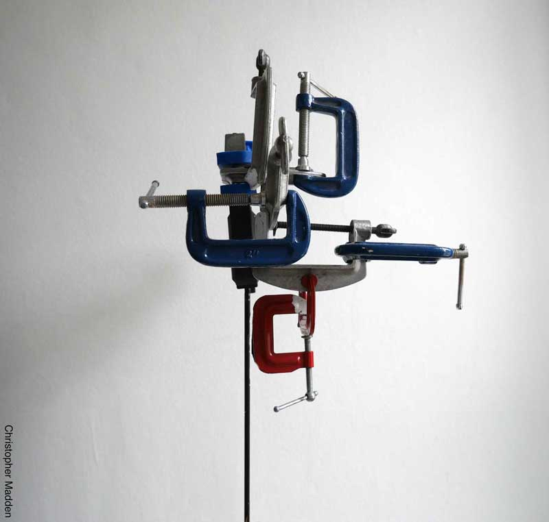 Contemporary sculpture from hardware