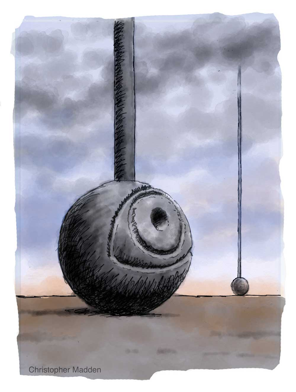surrealism in contemporary art - giant stone eye