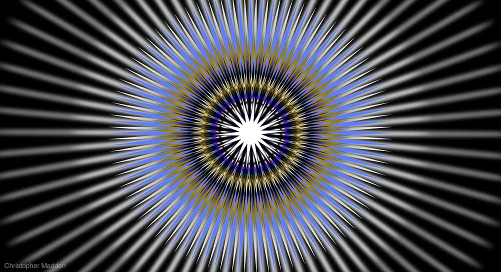 contemporary giclee print - optical effect