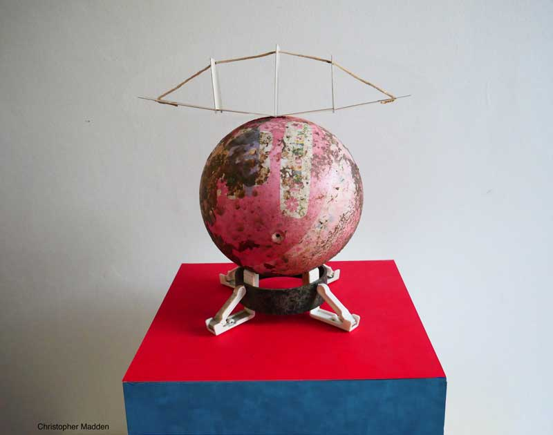 Contemporary sculpture from upcycled objects