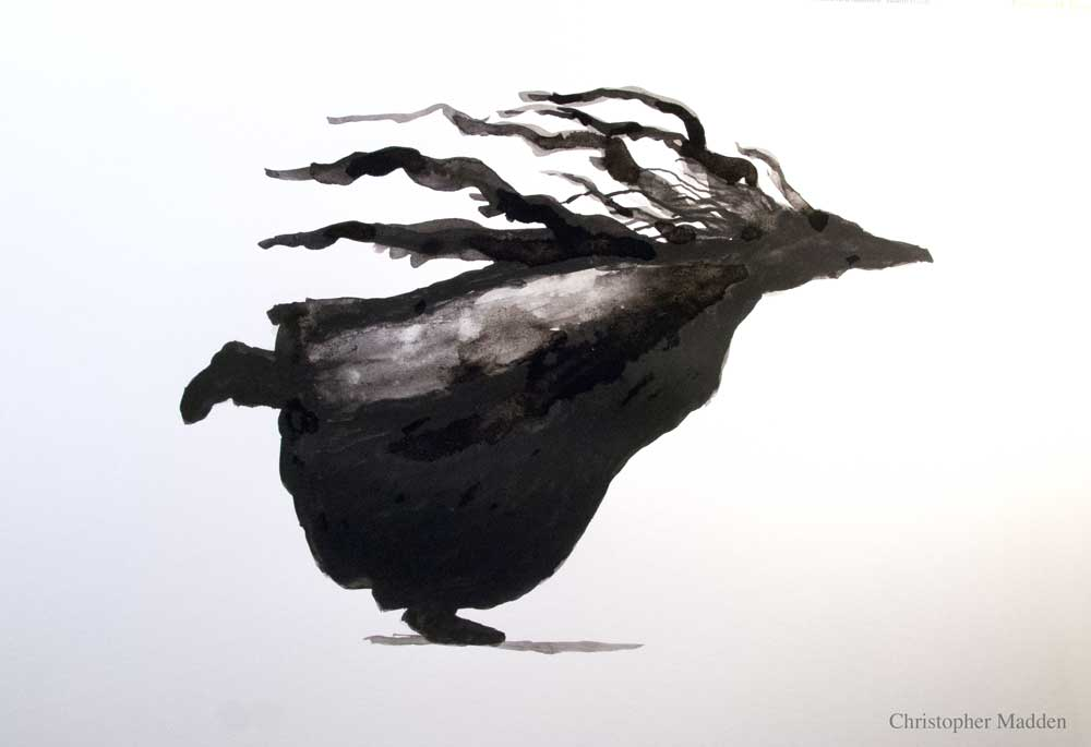 Contemporary art - semi-abstract running figure