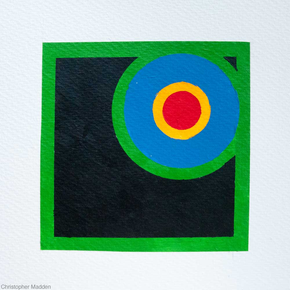 Contemporary art geometric abstract painting