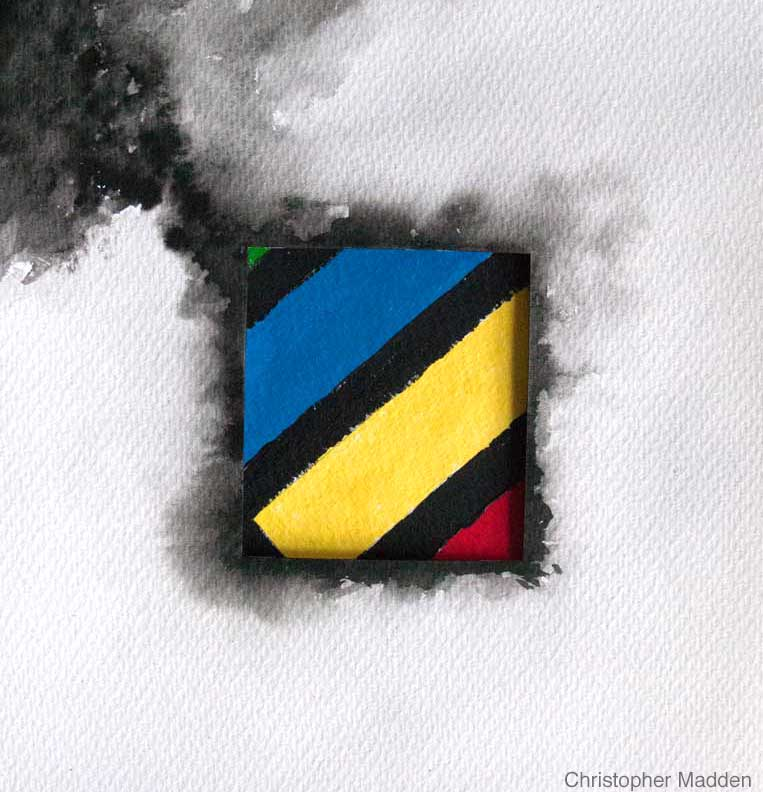 Contemporary art primary colors abstract painting