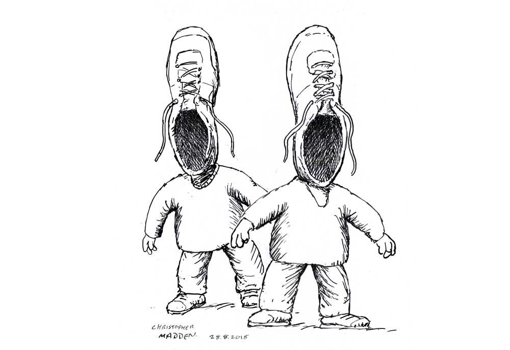 Surrealist shoes