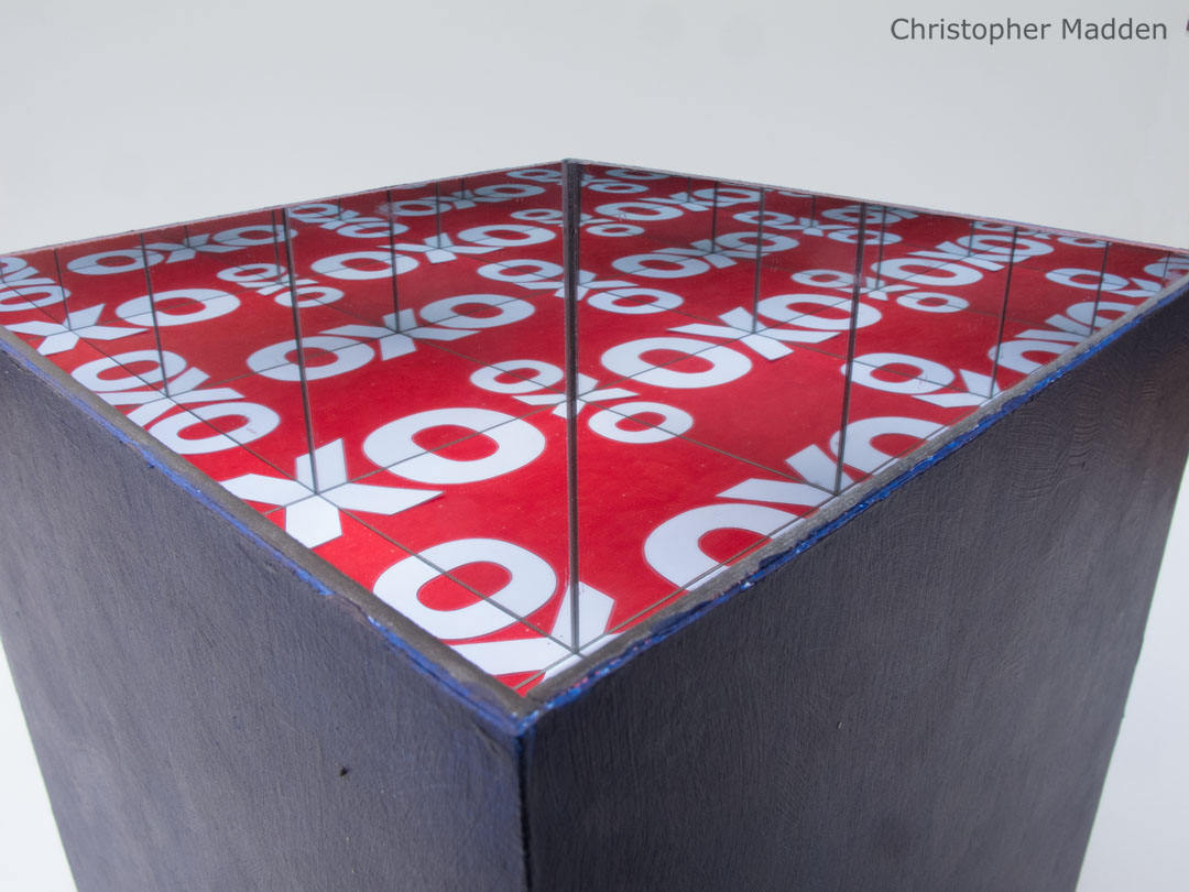 contemporary art infinity mirror reflections in OXO Cube