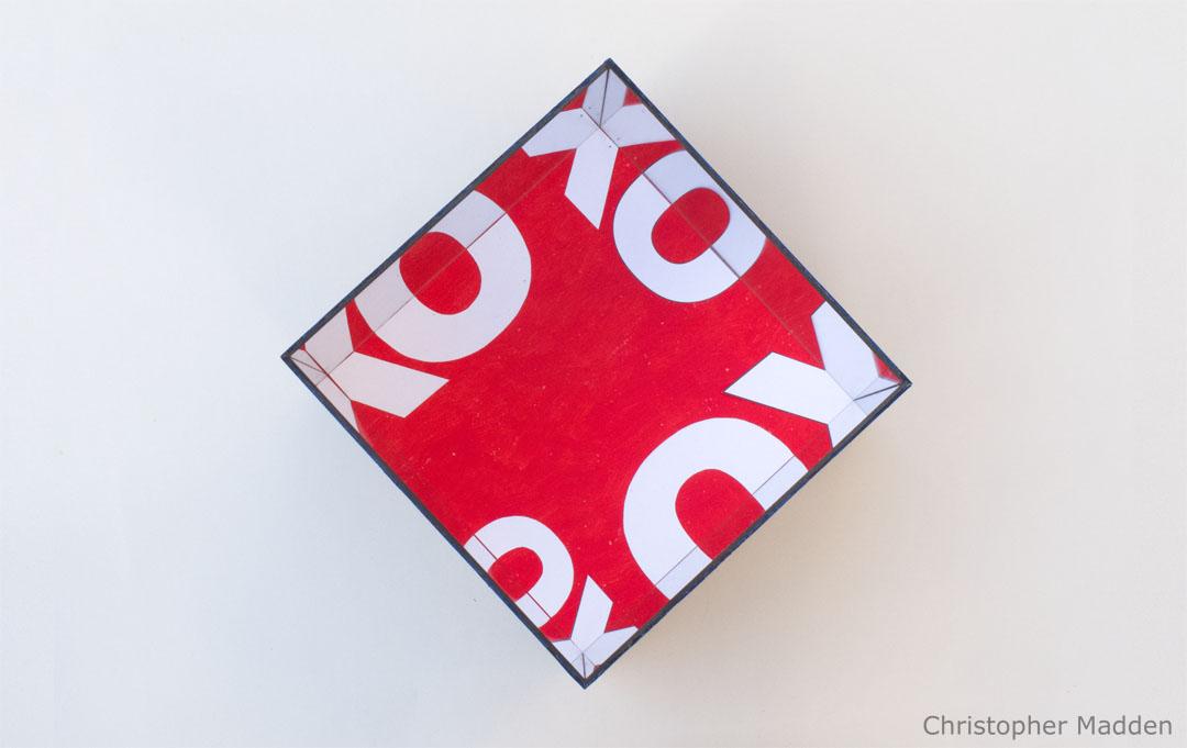 contemporary mirror based OXO Cube