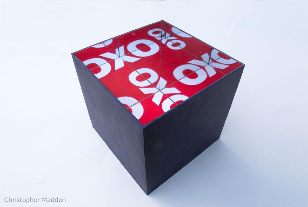 contemporary art mirror cube multiple reflection illusion