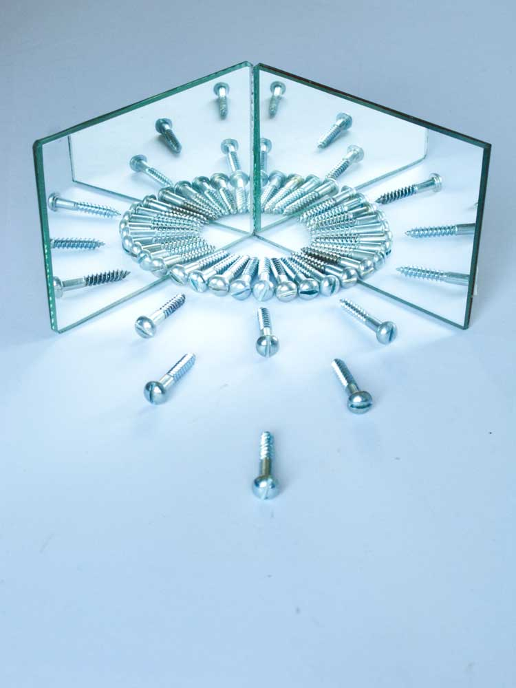 Mirror based contemporary art with screws
